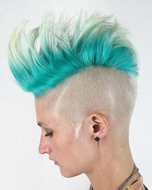 9-womens-platinum-and-turquoise- two hair colors