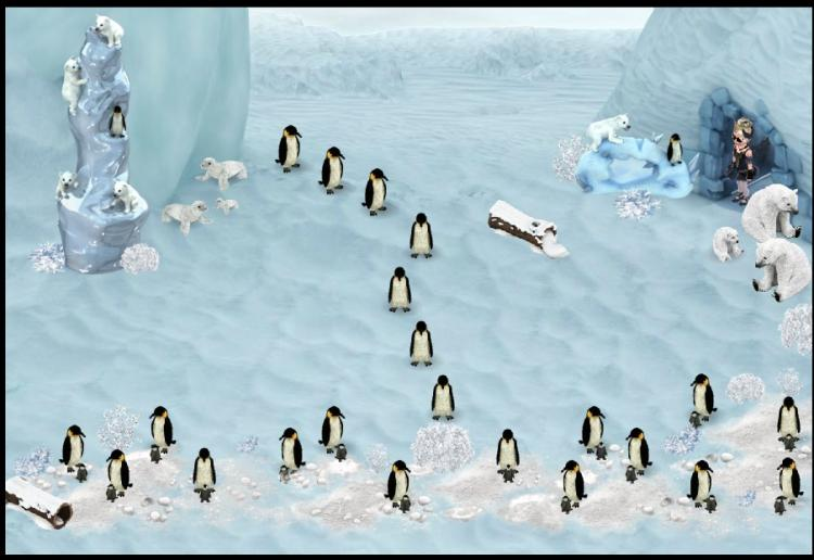 march of the penguins! lol