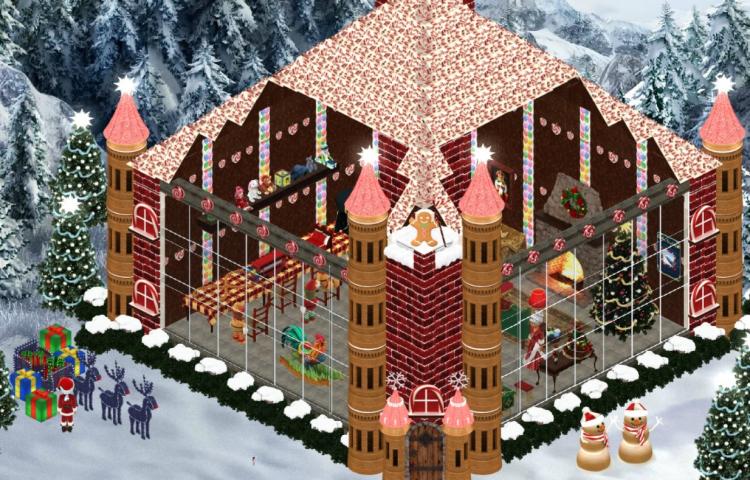 Santa's Workshop Cutaway of Building